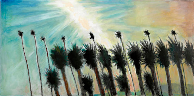 Frederick S. Wight (American, 1902-1986) Prevailing Winds - Descent of the Afternoon, 1981 24 x 48in
