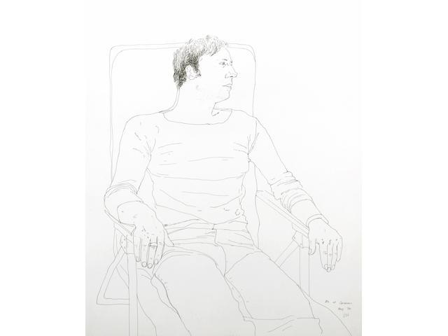 David Hockney (British, born 1937) Mo at Carennac, 1970 17 x 14in