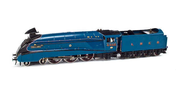 "LNER Class A4 4-6-2 ""Blue Mallard"" locomotive and tender No. 4468  circa 1984 27 1/2in. (69.8cm.) long 2"