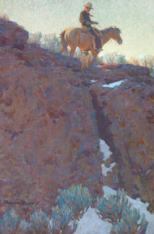 Maynard Dixon (1875-1946) The lone trail, 1912 30 x 20in