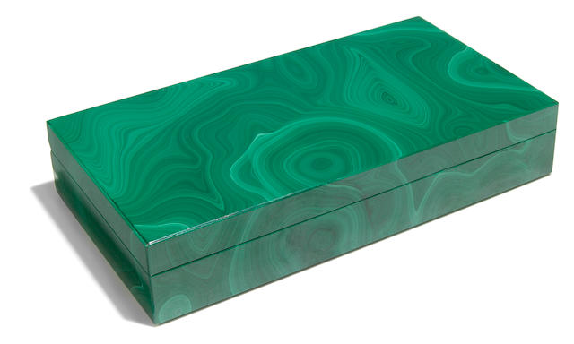 A Malachite Intarsia box