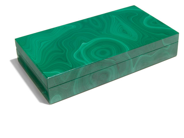 Malachite Intarsia Box
