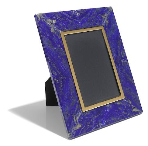 Lapis Lazuli Intarsia Picture Frame