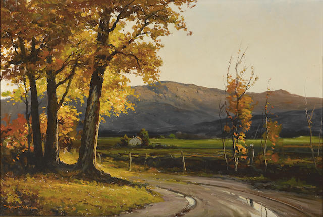 Robert Wood (American/British, 1889-1979) The road home 24 x 36in