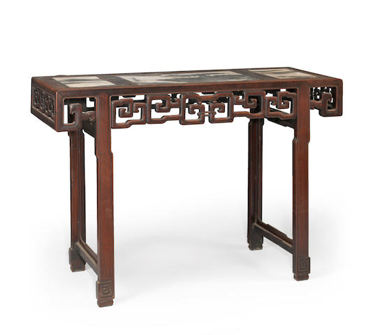 A carved marble top altar table Republic period