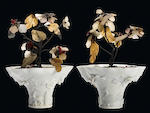 A pair of Chinese blanc de chine porcelain libation cups