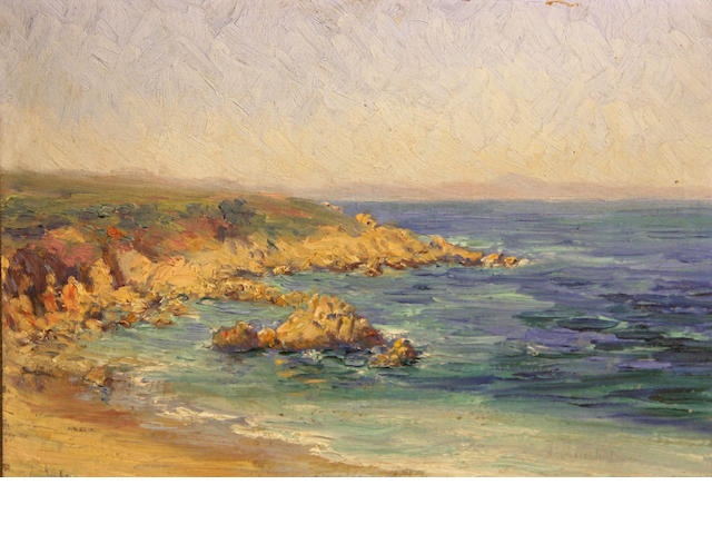 Lillie May Nicholson (American, 1884-1964) Monterey coast 8 1/2 x 12in