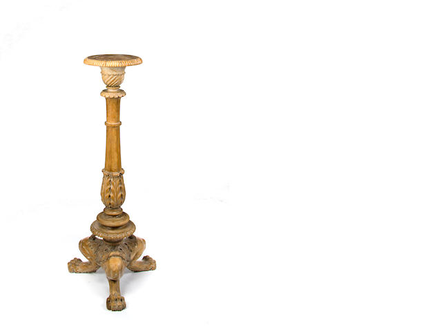 A Regency pine torchere