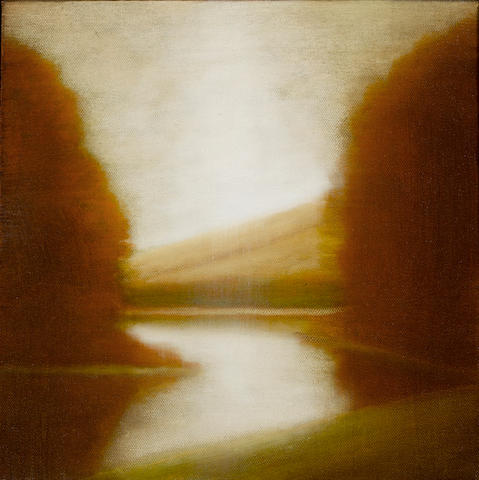 Wade Hoefer (American, born 1951) Landscape Study, 2008 (2) each 12 x 12in