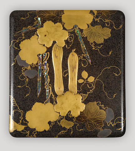 A lacquer decorated writing box (suzuribako) Edo period