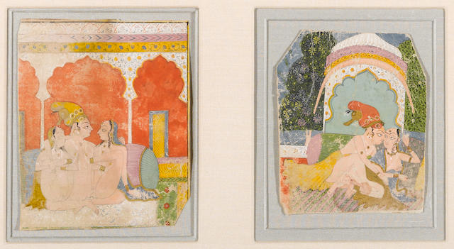 Two Indian miniature paintings 18th century