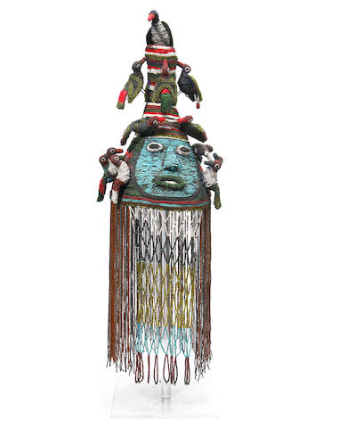 Yoruba Beaded Crown, Adenla, Nigeria