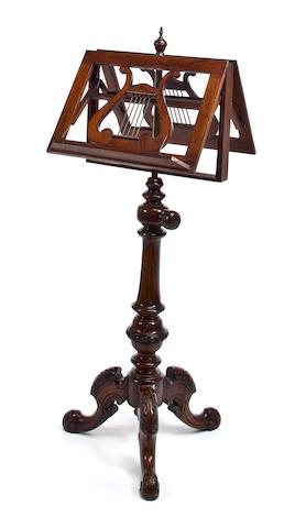 A George III mahogany duet stand<br>early 19th century