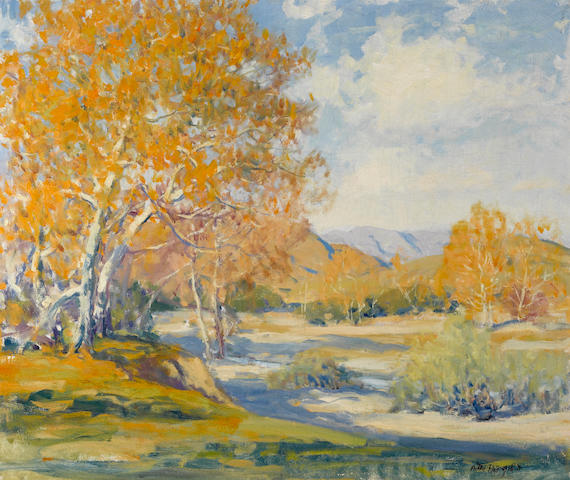 Arthur Hill Gilbert (American, 1894-1970) Along the river bank 25 x 30in