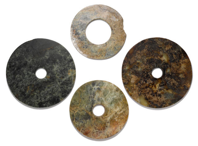 A group of four hardstone bi