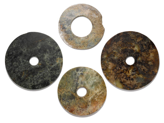 A group of four large hardstone Bi