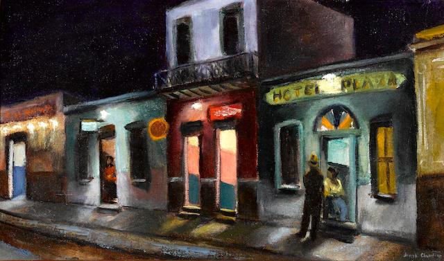 Joseph Chabot (American) Hotel Plaza, Los Angeles, 1945 13 1/4 x 22in