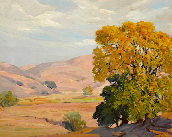 George Demont Otis (American, 1879-1962) Summer's day, Marin County 24 x 30in
