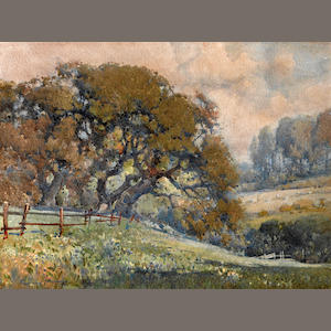 Percy Gray (1869-1952) California oaks  sight: 11 1/2 x 15 1/2in