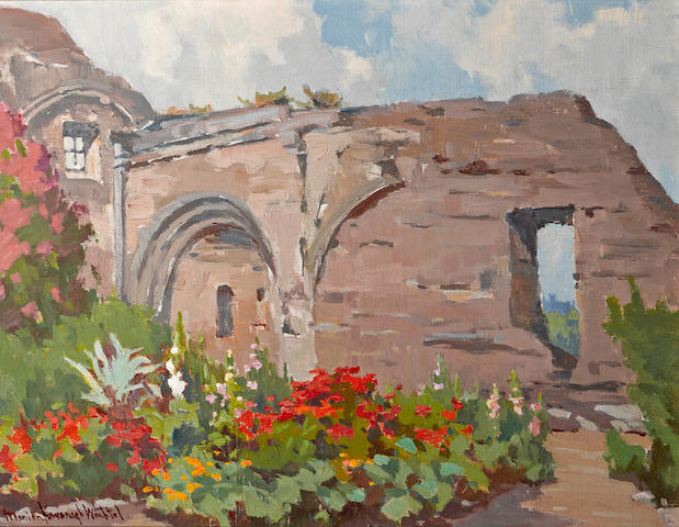 Marion Kavanagh Wachtel (American, 1870-1954) Mission San Juan Capistrano 15 1/4 x 19 3/4in