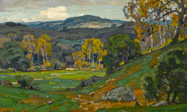 William Wendt (American, 1865-1946) San Juan Capistrano Hot Springs, O'Neill Ranch, 1925 18 x 30in