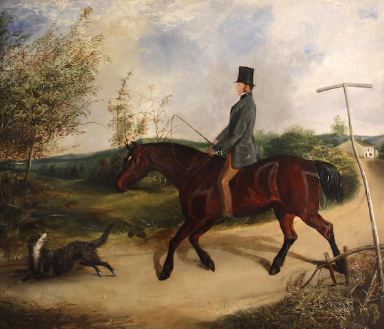 British School, 19th Century An afternoon ride 28 x 36 1/4in