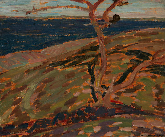Alexander Young Jackson, RCA, OSA, CGP (Canadian, 1882-1974) Pine Island (study for a landscape on the reverse)