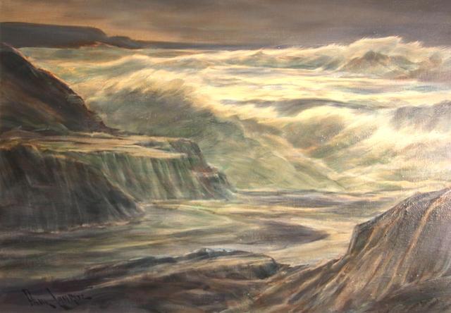 Paul Lauritz, Seashore, oil