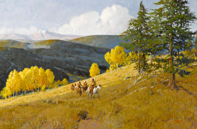 Joe Ferrara (American, 1932-2004) When the Aspens were gold, 1990 24 x 36in