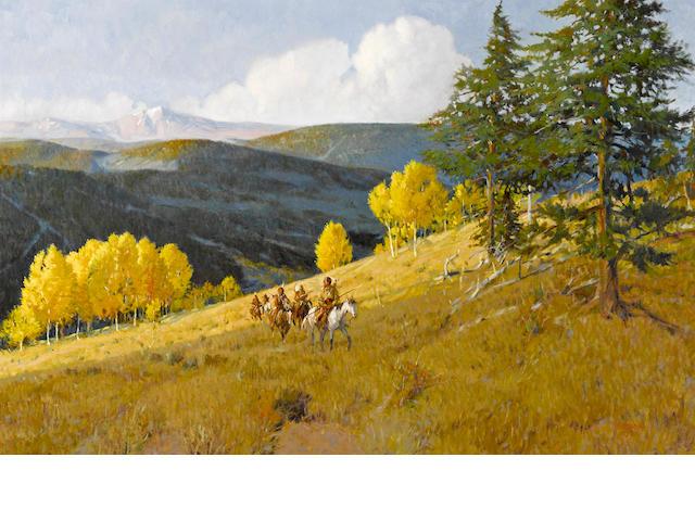 Joe Ferrara (American, 1932-2004) When the Aspens were gold, 1990 24 x 36in
