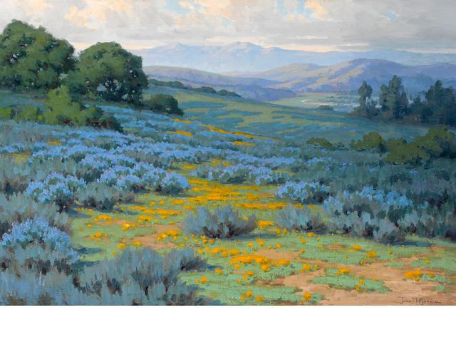John Marshall Gamble (American, 1863-1957) Santa Barbara landscape 24 x 36in