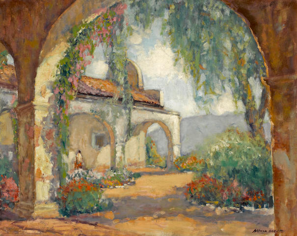 Arthur Hill Gilbert (American, 1894-1970) Mission San Juan Capistrano 24 x 30in