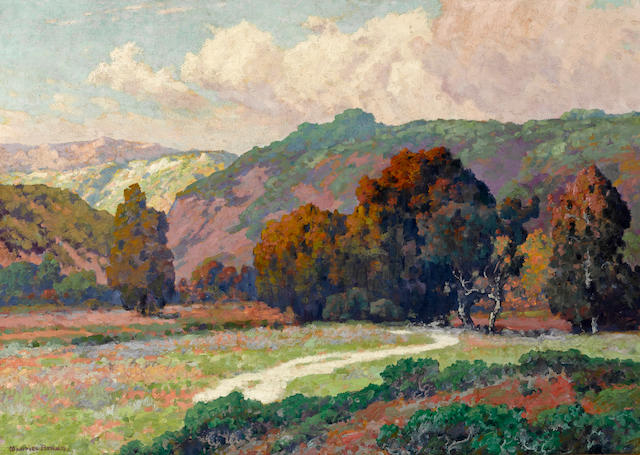 Maurice Braun (American, 1877-1941) Road to the canyon 24 x 30in