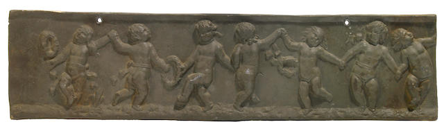 A George III cast lead plaque  late 18th century