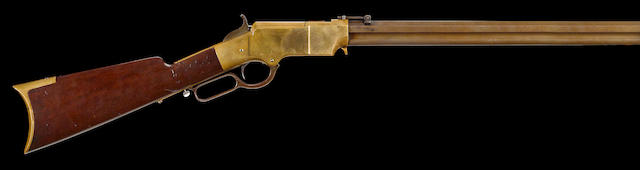 A martially marked Henry Model 1860 lever action rifle