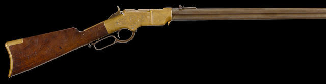 A factory engraved Henry Model 1860 lever action rifle