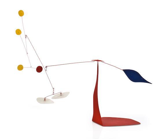 Alexander Calder (American, 1898-1976) Deux blancs en dessous, 1974 30 x 36 x 12 1/4in (76.2 x 91.5 x 31.1cm)