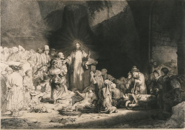Rembrandt Harmensz van Rijn (Dutch, 1606-1669); Christ Healing the Sick: 'The Hundred Guilder Print';