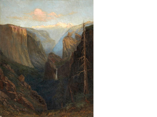 Christian Jorgensen (American, 1860-1935) First flush of sunrise, Yosemite Valley, 1915 59 1/2 x 47 1/2in unframed