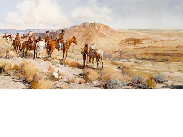 Joe Ferrara (American, 1932-2004) Tatanka, 1991 24 x 48in