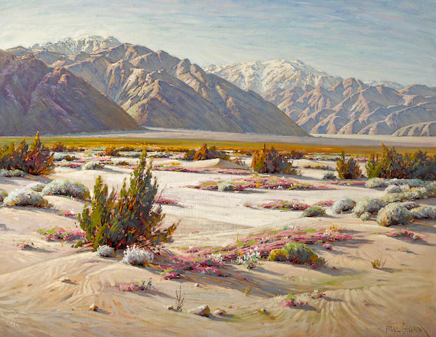 Paul Grimm (1891-1974) Nature's extremities, Mount San Gorgonio, San Jacinto and the pass 36 x 46in