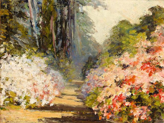 Eola Willis (American, 1856-1952) Magnolia Gardens 8 1/16 x 10 1/2in