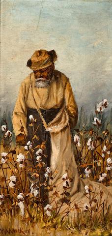 William Aiken Walker (American, 1838-1921) Cotton Picker 8 x 4in