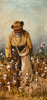 William Aiken Walker (American, 1838-1921) Cotton Picker 8 x 4in
