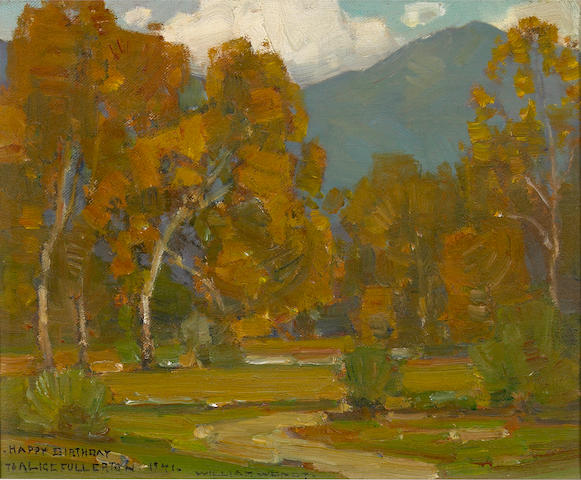William Wendt (American, 1865-1946) Laguna landscape 9 x 11in