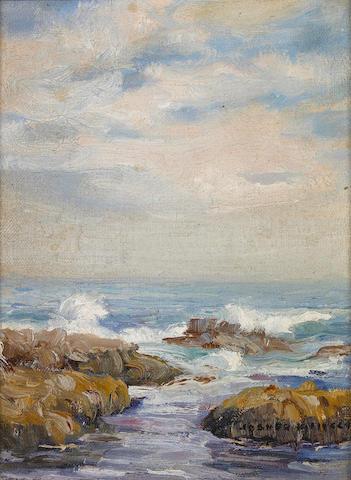 Joseph Kleitsch (1882-1931) Laguna coastal scene 9 x 7in