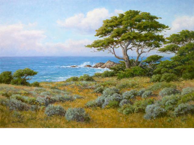 David Chapple (American, born 1947) Land and Sea 24 x 36in