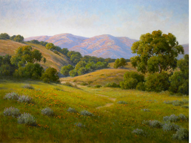 David Chapple (American, born 1947) Evening Light 30 x 40in