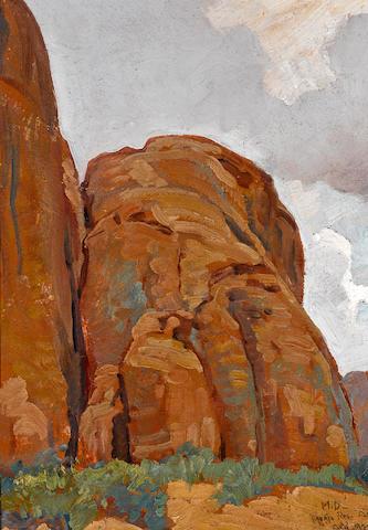 Maynard Dixon (1875-1946) Navajo Reservation, 1932 13 1/2 x 9 3/4in