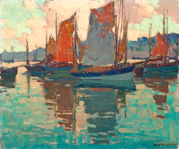 Edgar Payne (1883-1947) The harbor, Douarnenez, France 20 x 24in